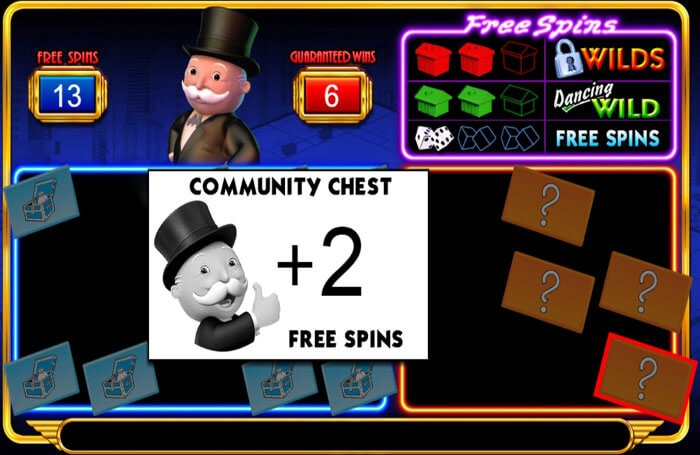 Free spins in Monopoly Big Event