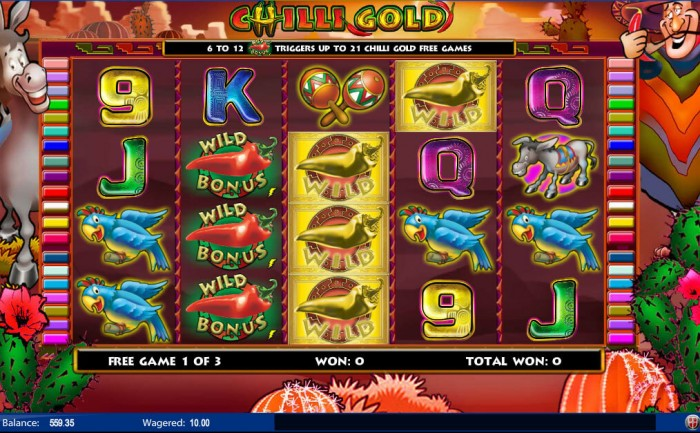 The free spins in Chilli Gold