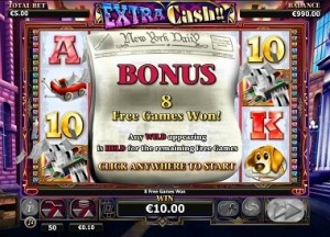 nextgen gaming Extra Cash free spins
