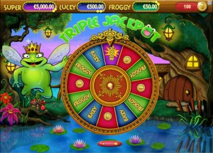 Super Lucky Frog bonus game jackpot
