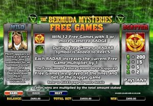 The Bermuda Mysteries nextgen gaming slot free spins