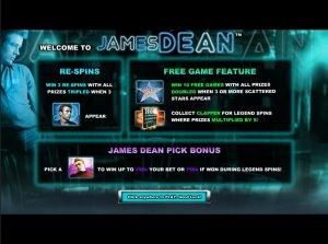 James Dean NextGen Gaming free spins