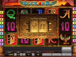 Book of Ra Deluxe novomatic free spins slot