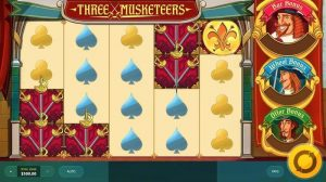 Three musketeers features slot RTG